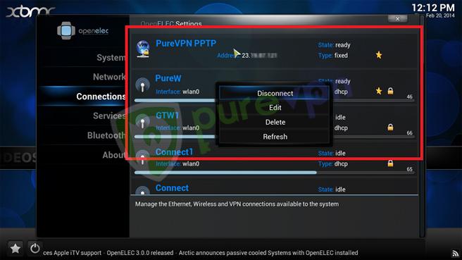 11 setup openelec pptp vpn
