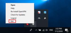 Exit PureVPN application