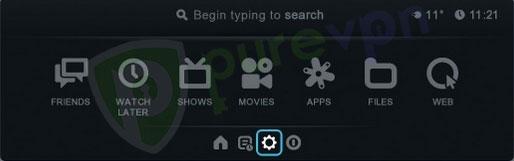 IN Boxee Box menu select Settings