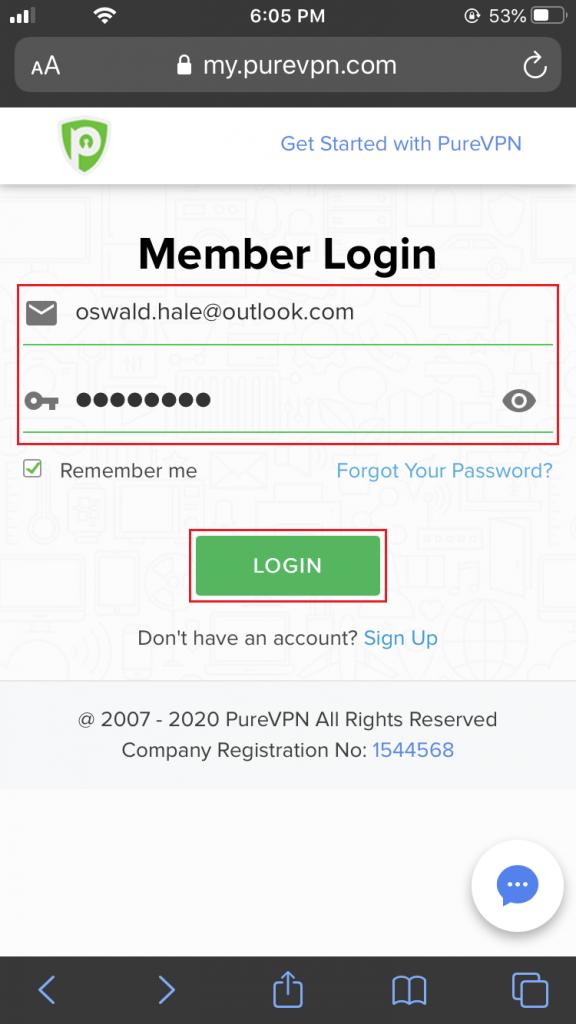 Member's Area iOS