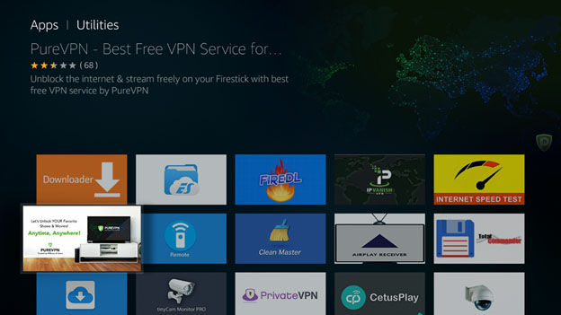 Set up Amazon Fire TV VPN by step by step guide by PureVPN