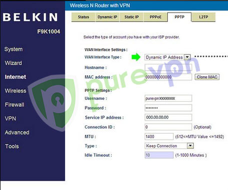 Select Dynamic IP Address