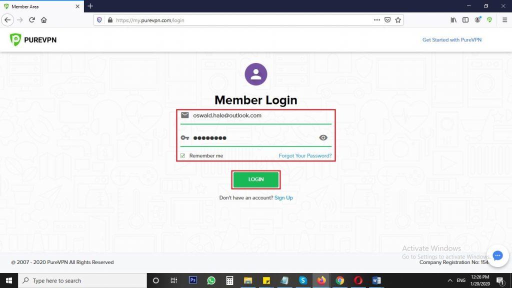 Member Area on Windows-Mac