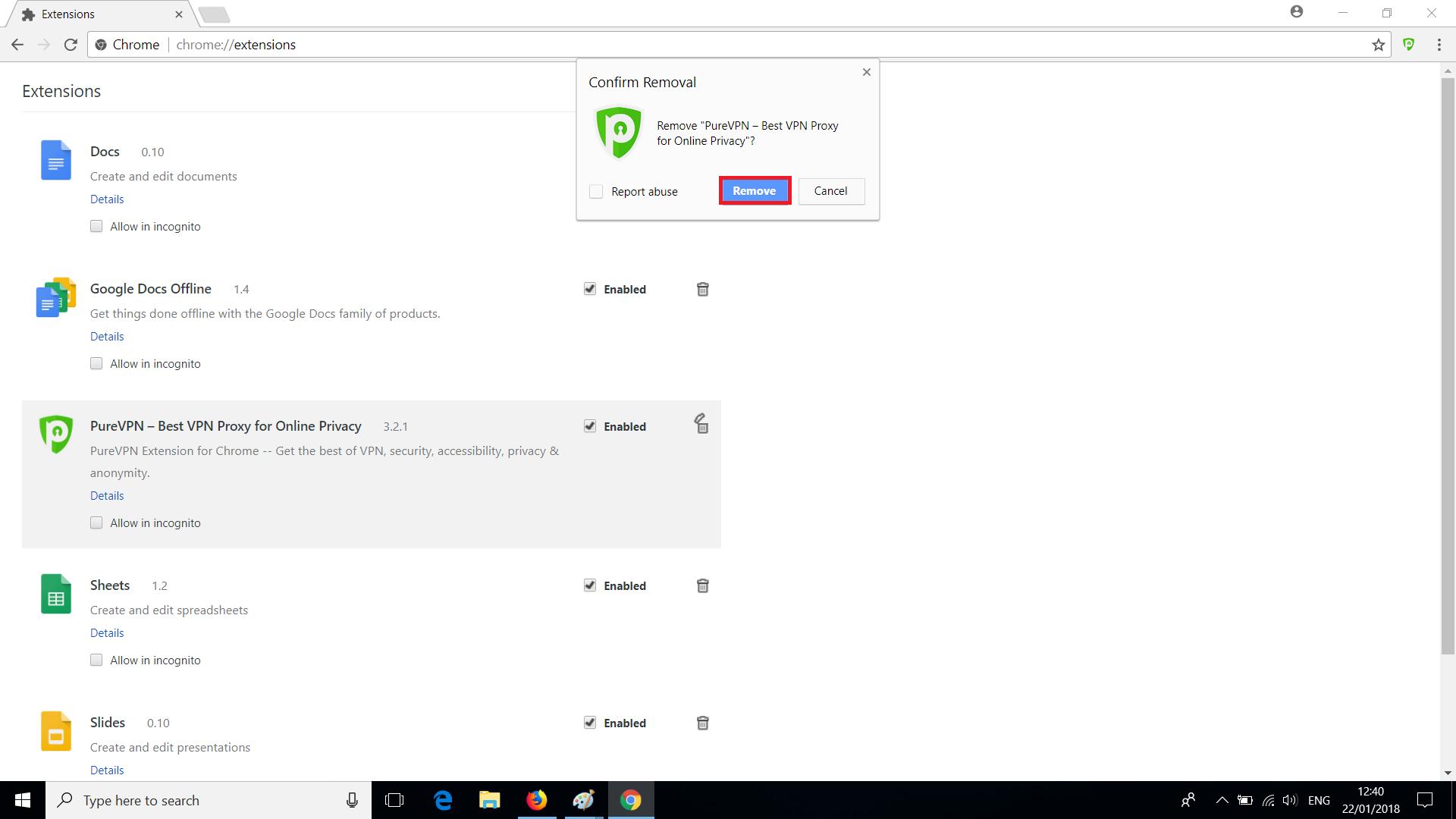 PureVPN Chrome Extension