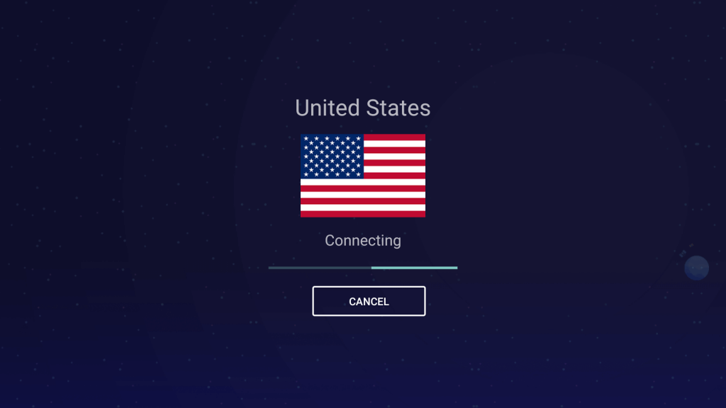It will take a few seconds to connect.