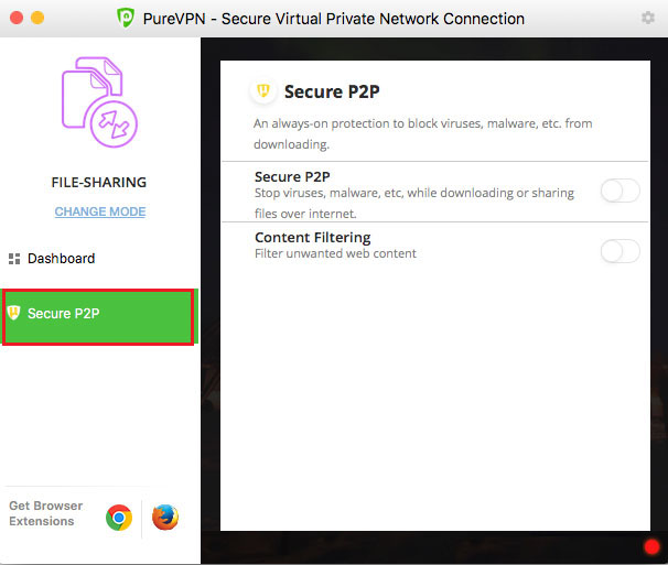 Activate Secure P2P for your ultimate protection on Mac