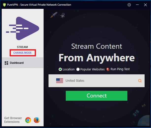 How to use Dedicated IP mode in PureVPN Windows Software
