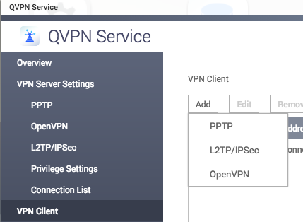 How to setup PureVPN on QNAP