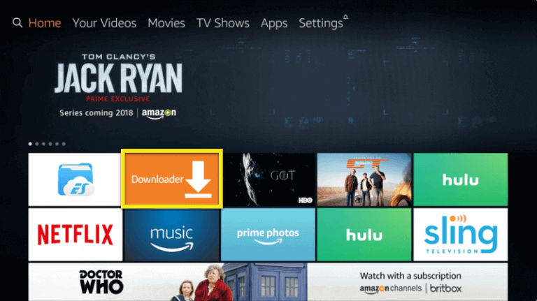Download the Downloader app on your Fire TV or Firestick