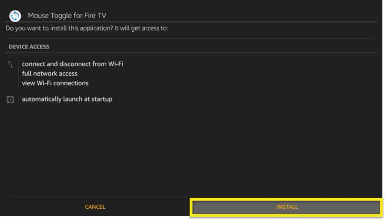 INSTALL mouse toggle on fire stick
