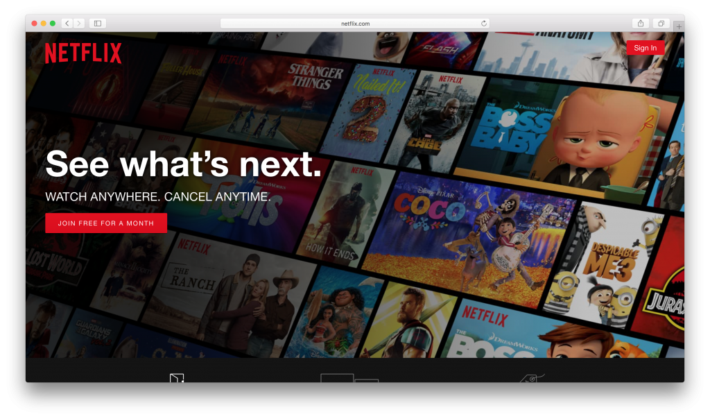 Netflix US will open on your default browser