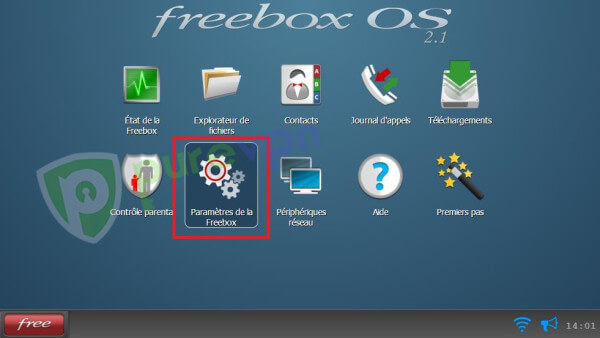 Parametres de la Freebox