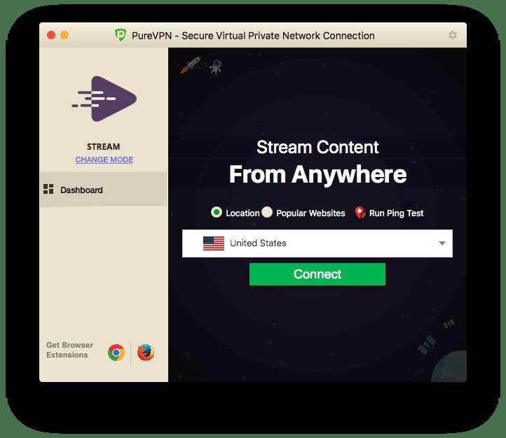 Successfully Disconnected PureVPN Mac App