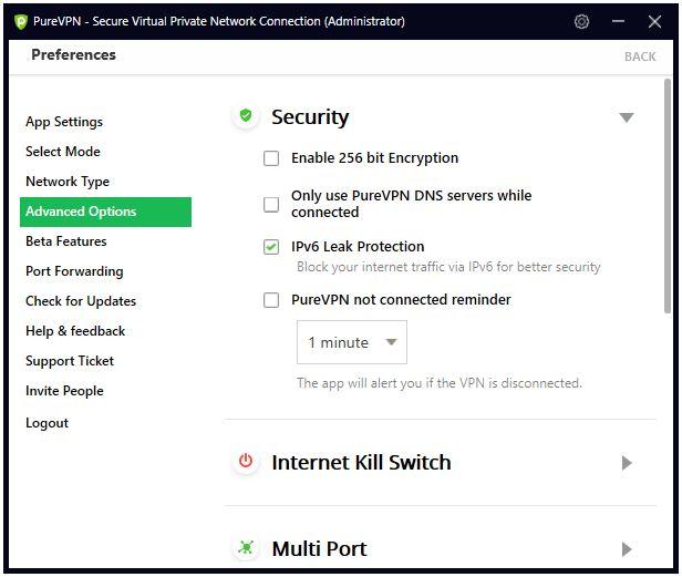 IPv6 Leak Protection box