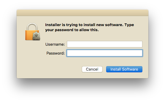 Enter your Mac username and password
