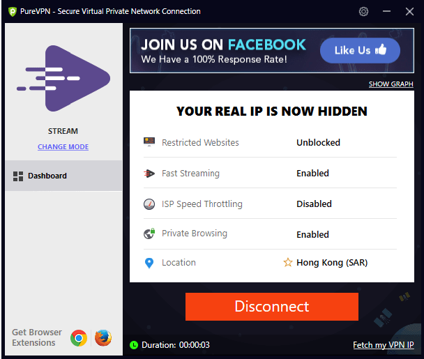 You are now connected | | How to login and connect to PureVPN Window's app