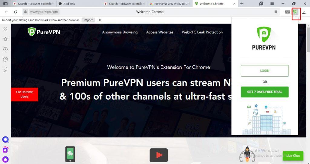 Now use VPN on Yandex