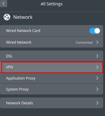 Click VPNthen select Create VPN
