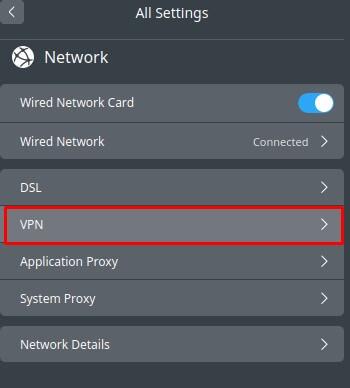 Click VPNthen select Create VPNoption