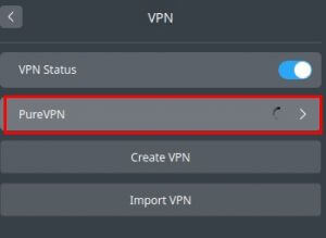 click the newly created VPN connection