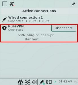 You are now connected to PureVPN via OpenVPN protocol