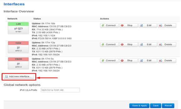 Add New Interface OpenVPN Openwrt