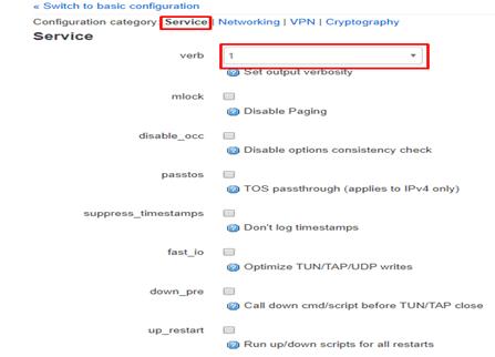 Configuration category service