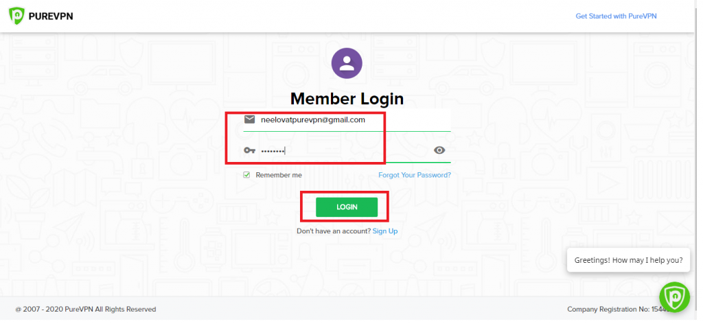 Login to Member's Area PureVPN