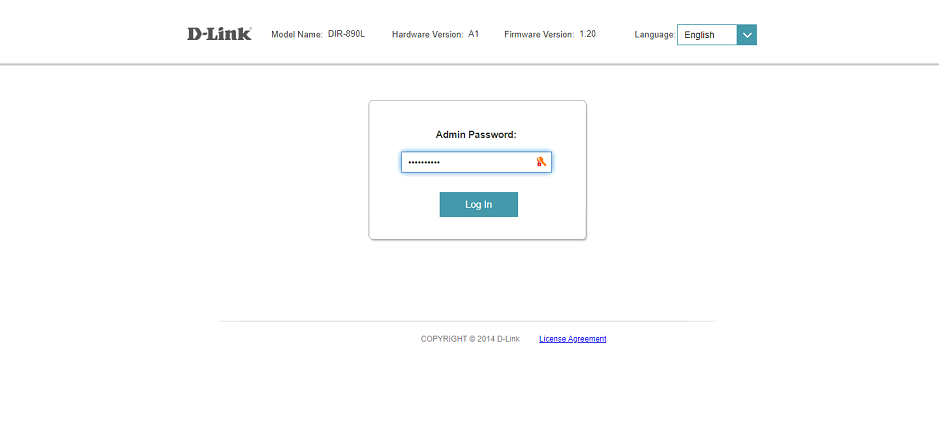 Login to your router panel
