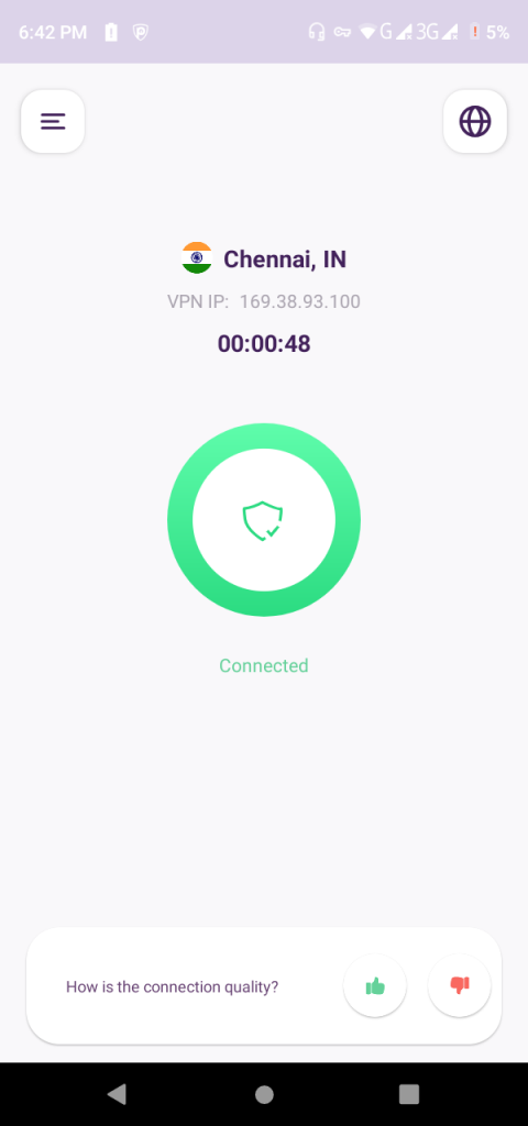Now, you can proceed to connect to PureVPN with your desired protocol.