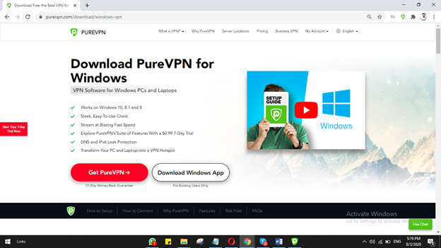 Click on Download Windows app