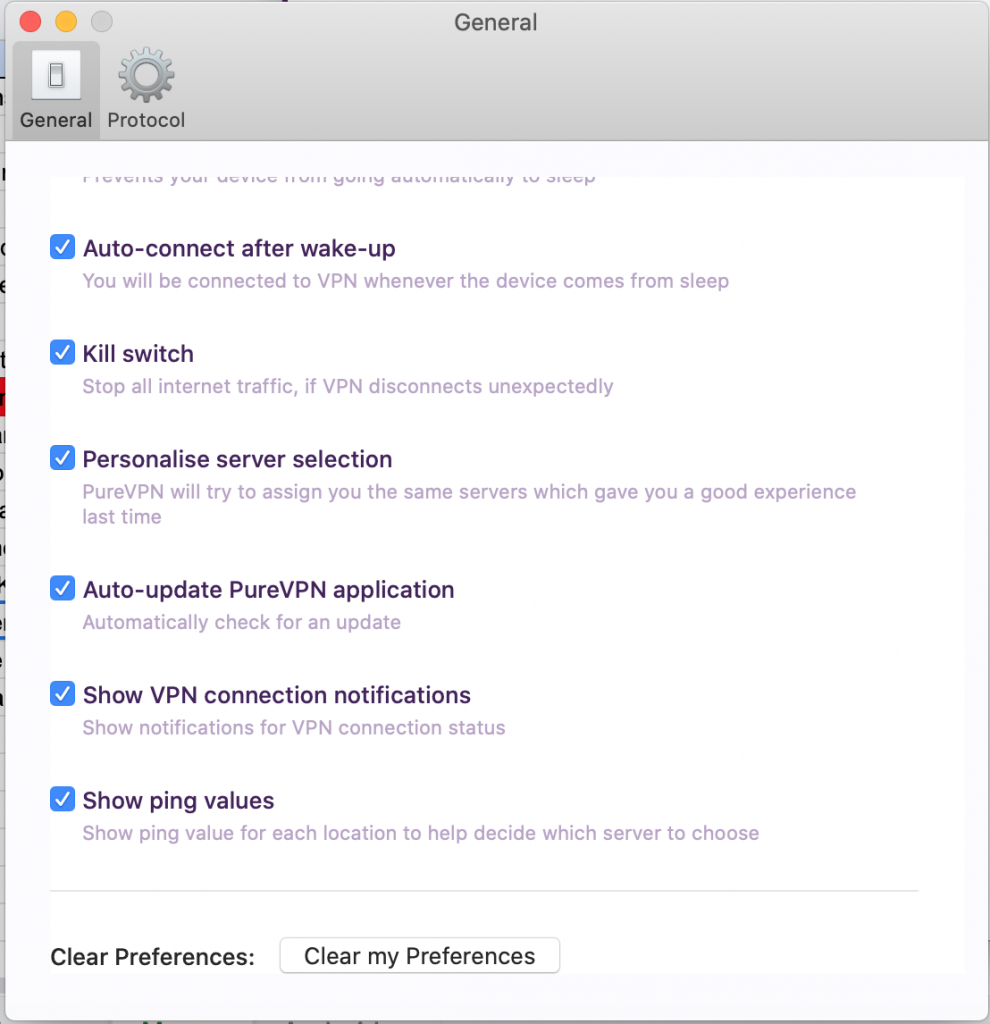 Mark check on IKS to turn it on - How to enable Internet Kill Switch (IKS) on PureVPN Mac app
