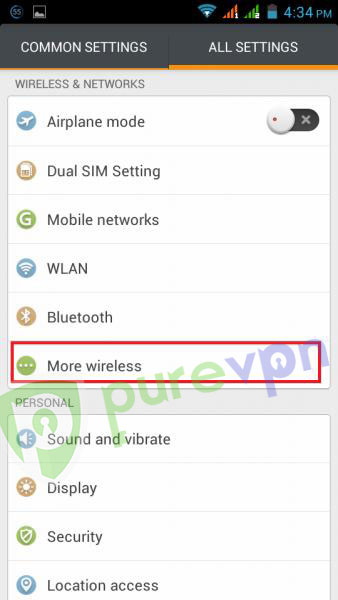 2 setup vpn on android