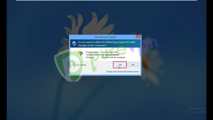"""Click """"Yes"""" to allow installation"""