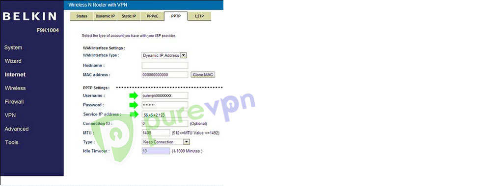 How to setup PureVPN manually on Belkin Router