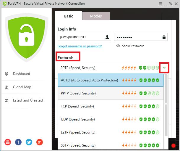 How to change protocols in purevpn new windows software for New windows software
