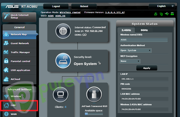 how to add password to asus router